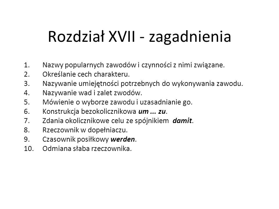 Rozdział XVII - zagadnienia