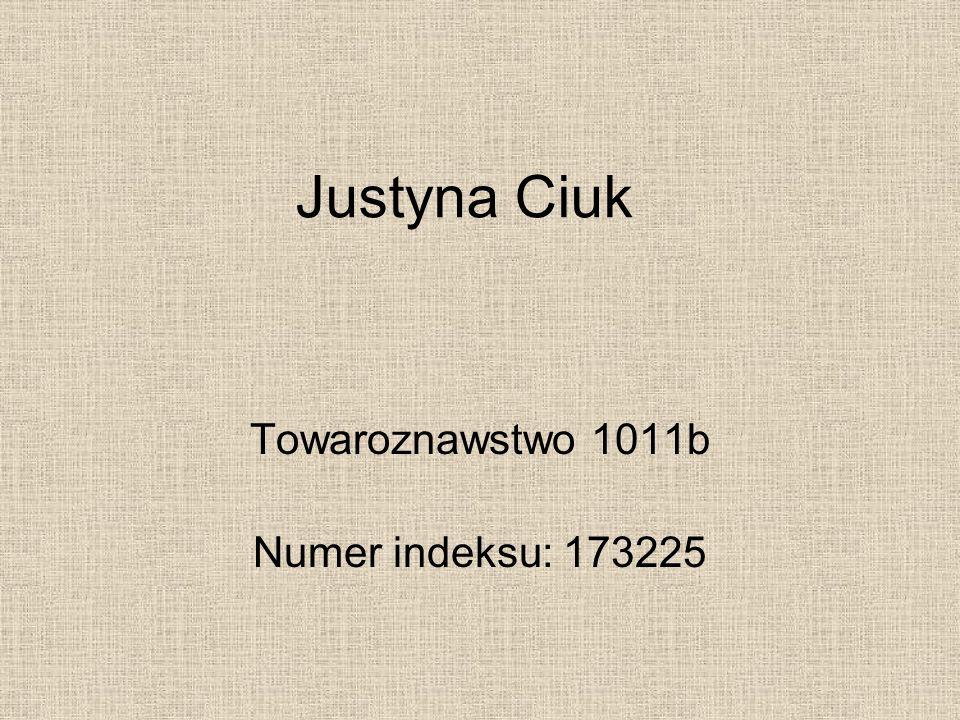 Towaroznawstwo 1011b Numer indeksu: 173225