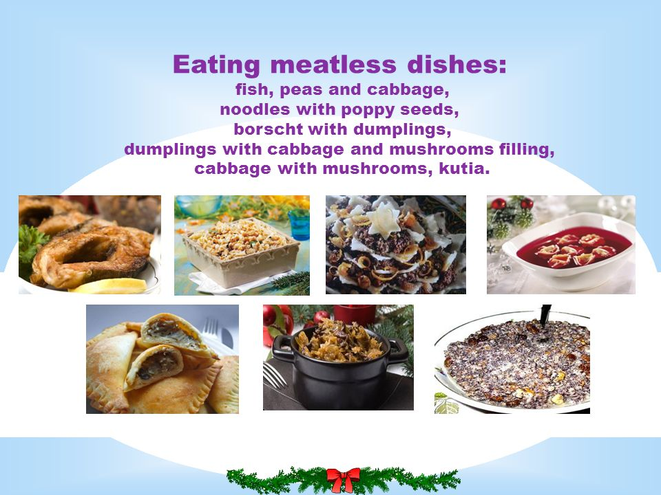 Eating meatless dishes: