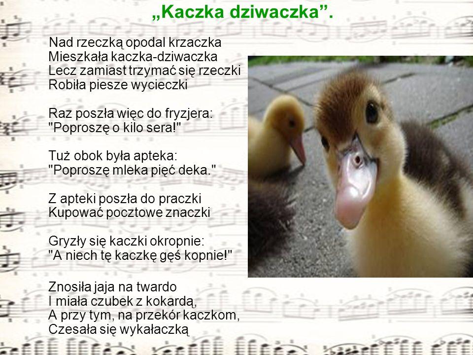"""Klasa III a prezentuje piosenkę: """"Kaczka dziwaczka ."""