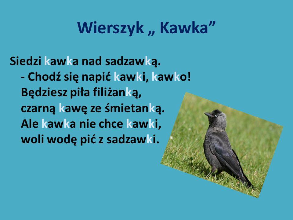 """Wierszyk """" Kawka"""