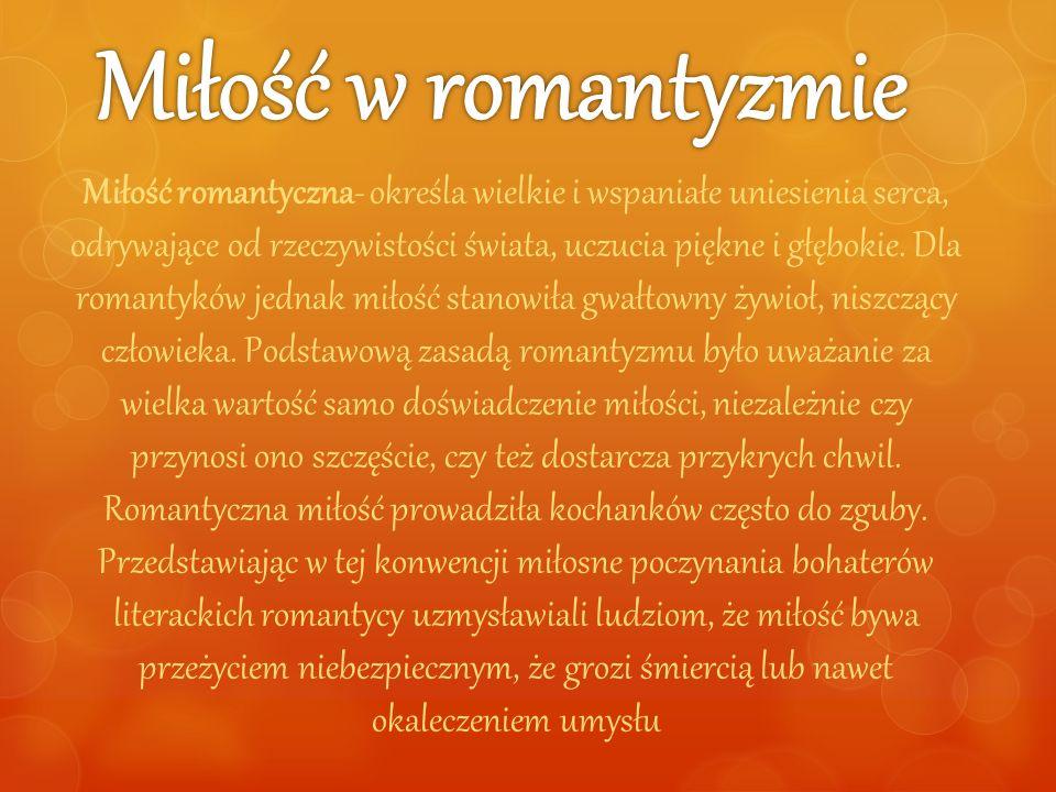 Miłość w romantyzmie