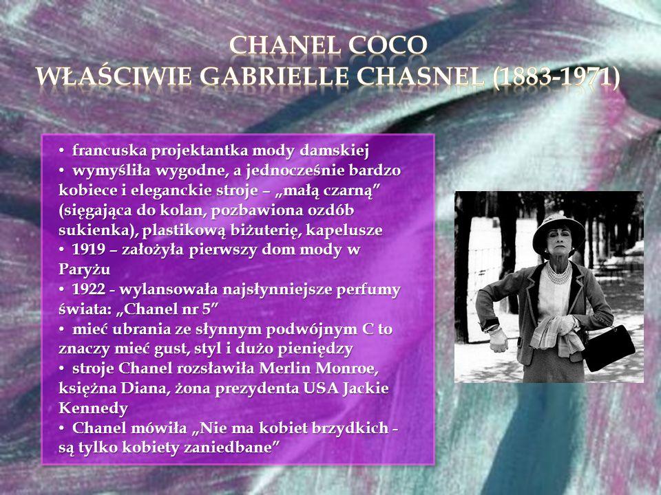 właściwie Gabrielle Chasnel (1883-1971)