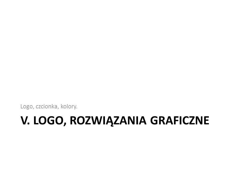 V. Logo, rozwiązania graficzne