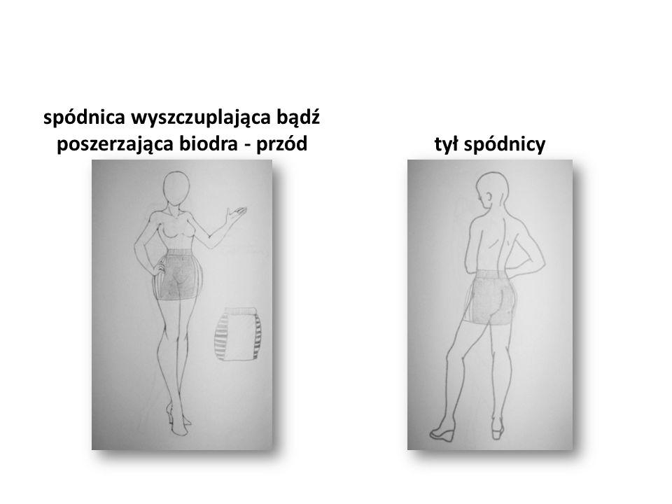 spódnica wyszczuplająca bądź poszerzająca biodra - przód