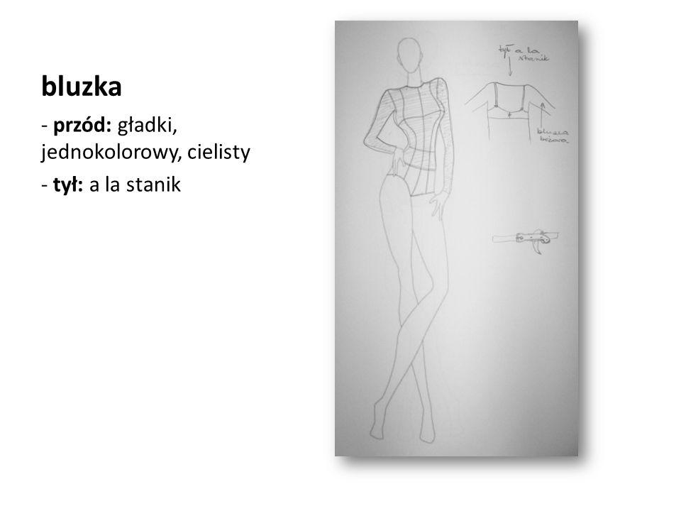 bluzka przód: gładki, jednokolorowy, cielisty tył: a la stanik