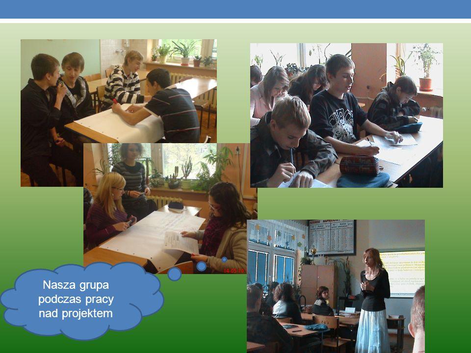 Nasza grupa podczas pracy nad projektem