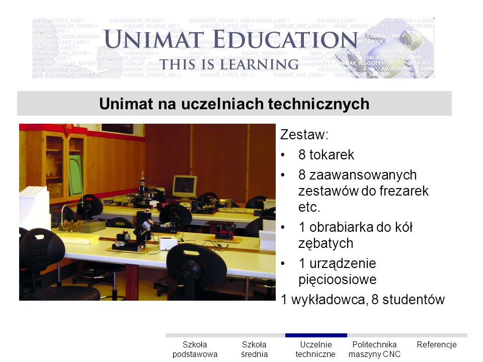 Unimat na uczelniach technicznych