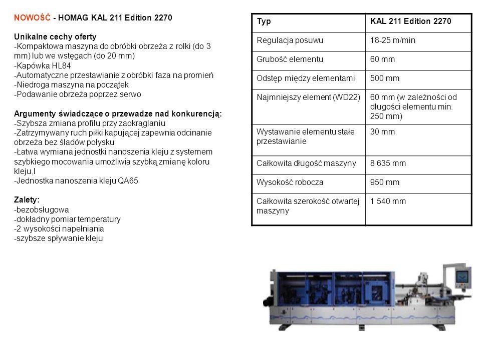 NOWOŚĆ - HOMAG KAL 211 Edition 2270