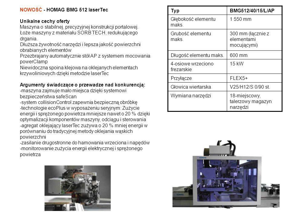 NOWOŚĆ - HOMAG BMG 512 laserTec
