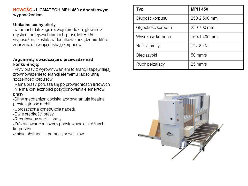NOWOŚĆ - LIGMATECH MPH 450 z dodatkowym wyposażeniem