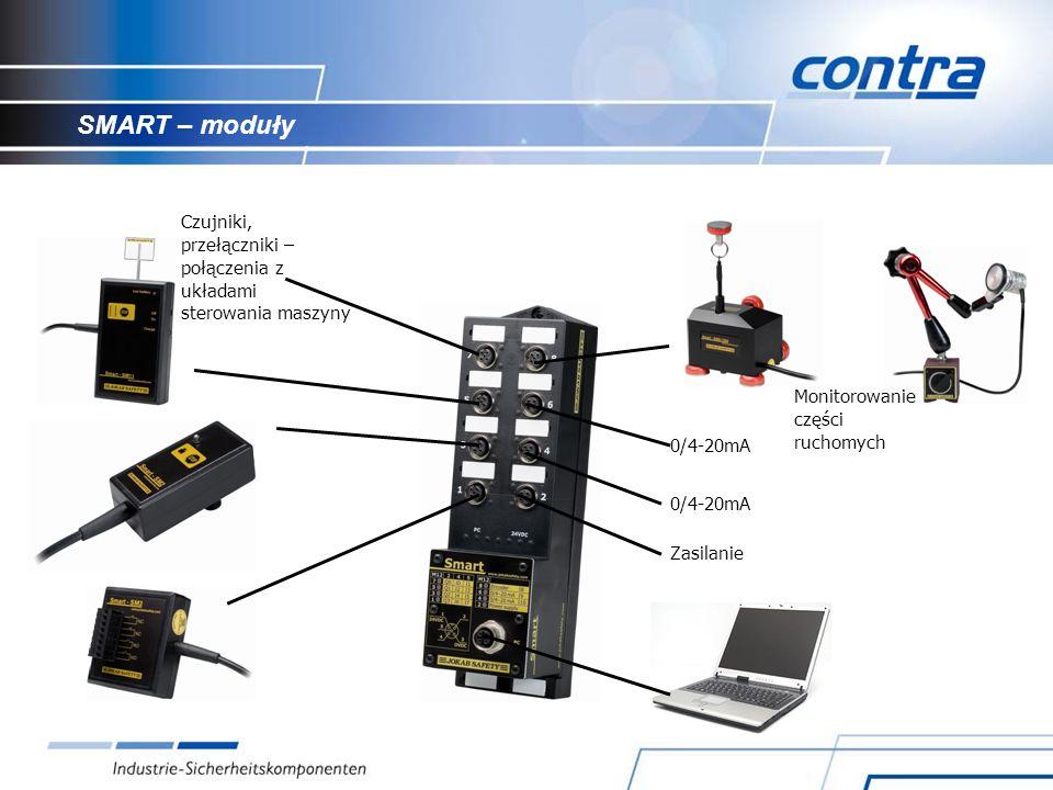 SMART – moduły Czujniki, przełączniki – połączenia z układami sterowania maszyny. Monitorowanie części ruchomych.