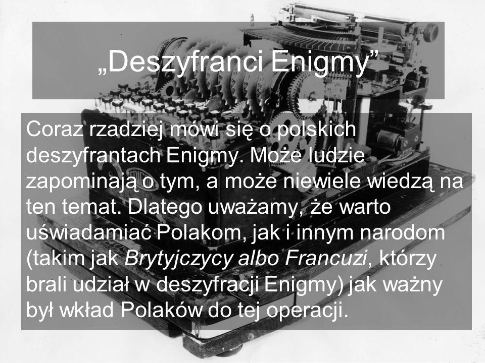 """""""Deszyfranci Enigmy"""