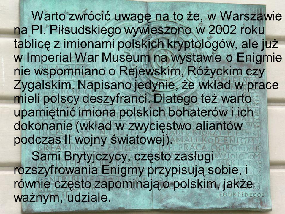 Warto zwrócić uwagę na to że, w Warszawie na Pl