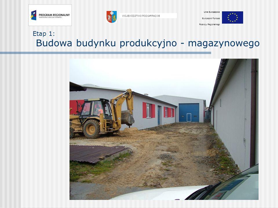 Etap 1: Budowa budynku produkcyjno - magazynowego