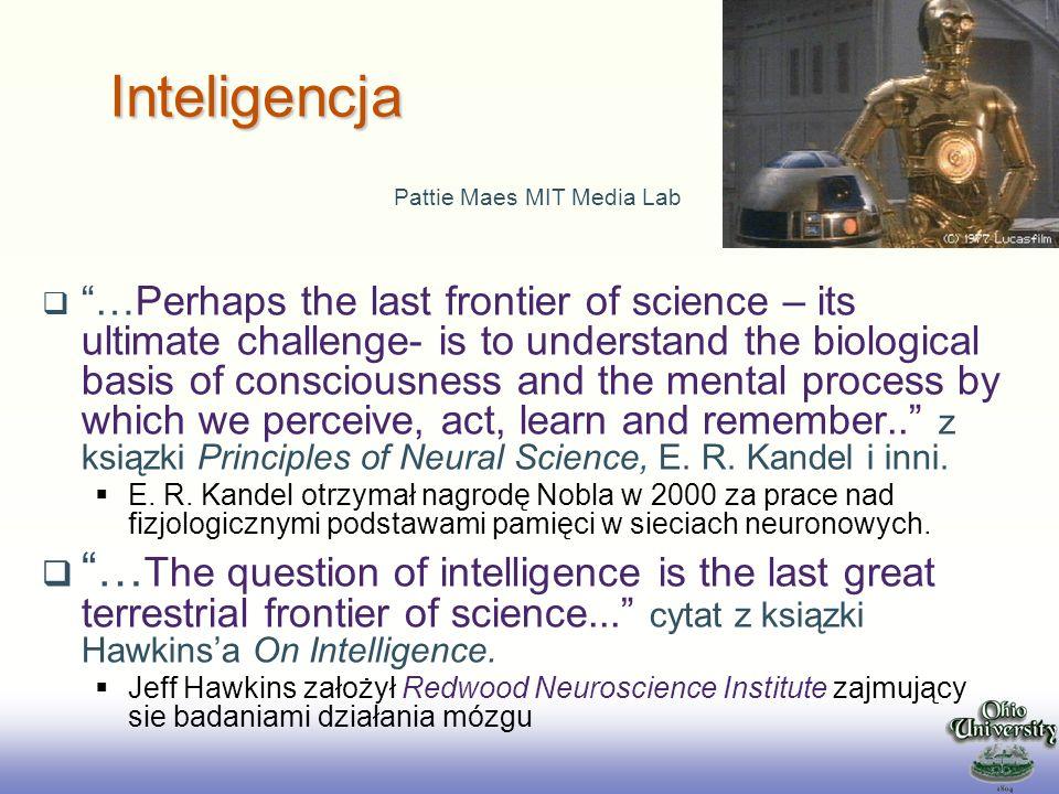 2017/3/28 Inteligencja. Pattie Maes MIT Media Lab.