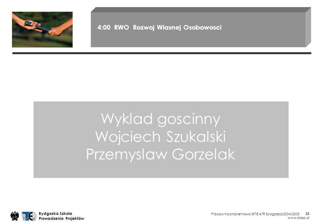 Wyklad goscinny Wojciech Szukalski Przemyslaw Gorzelak