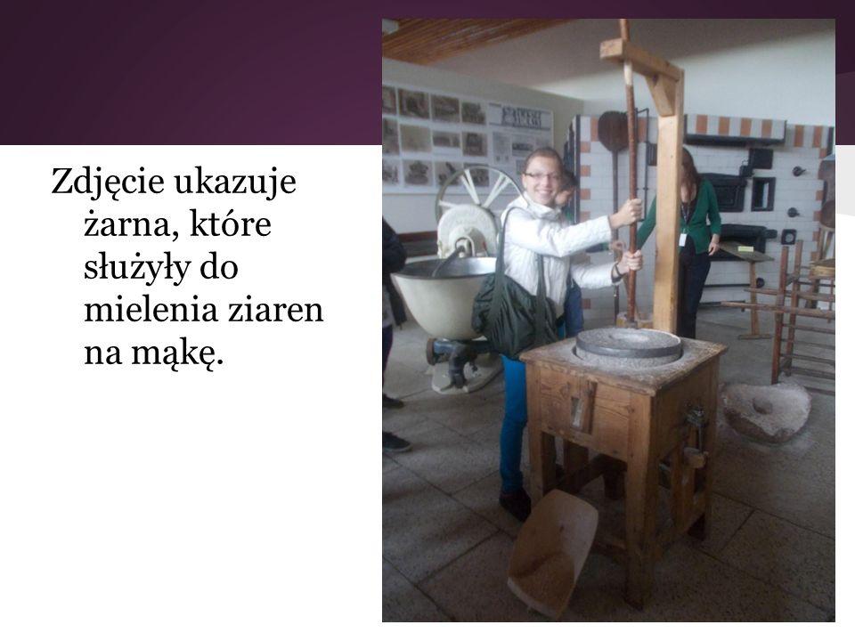 Zdjęcie ukazuje żarna, które służyły do mielenia ziaren na mąkę.