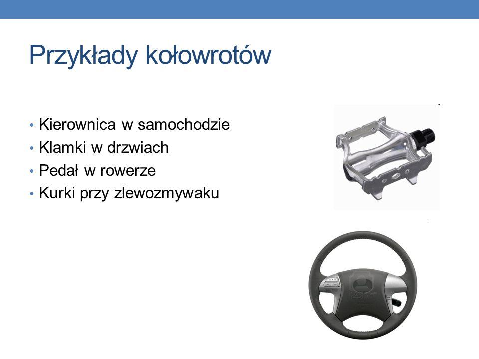 Przykłady kołowrotów Kierownica w samochodzie Klamki w drzwiach