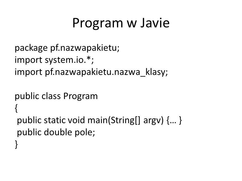 Program w Javie