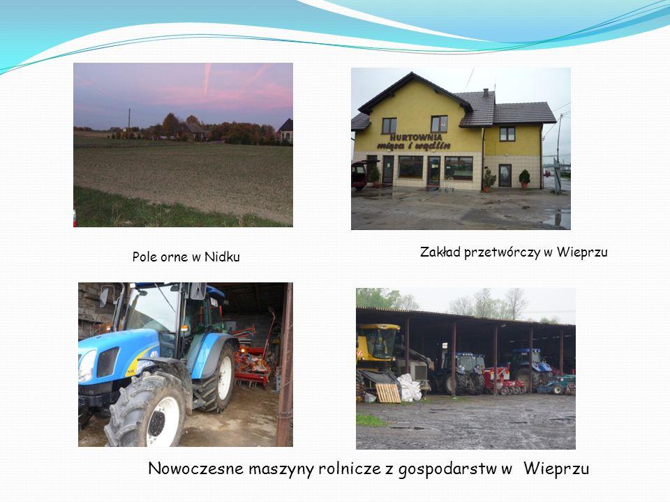 Nowoczesne maszyny rolnicze z gospodarstw w Wieprzu