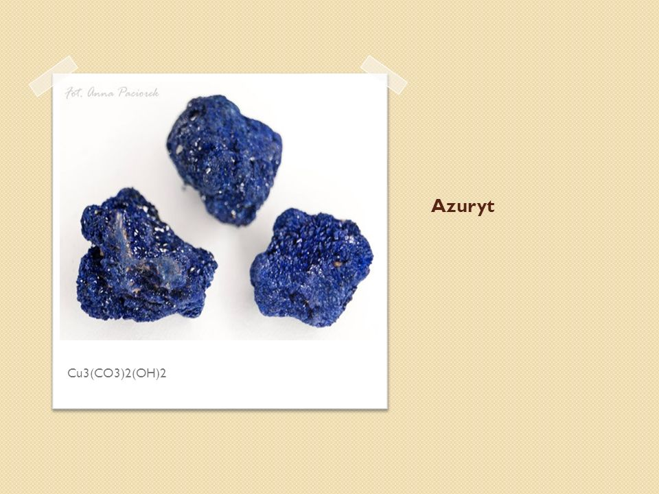 Azuryt Cu3(CO3)2(OH)2