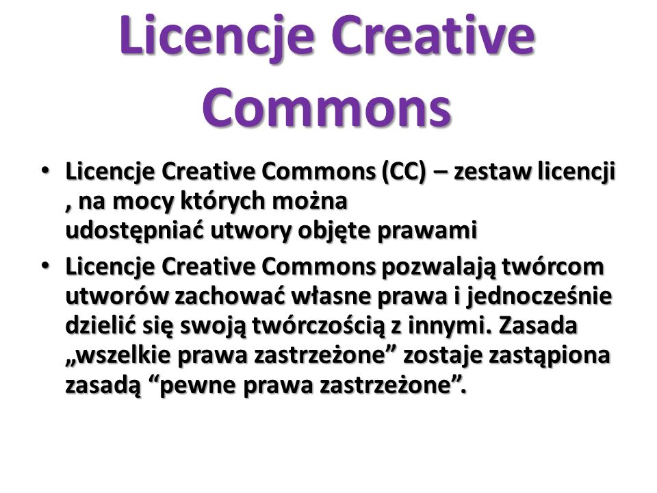 Licencje Creative Commons