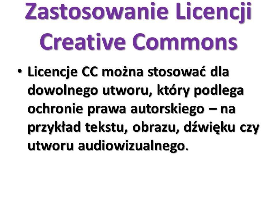 Zastosowanie Licencji Creative Commons