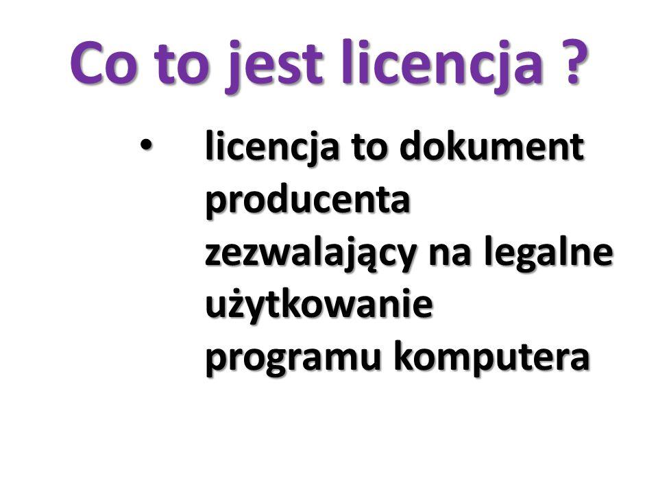 Co to jest licencja .