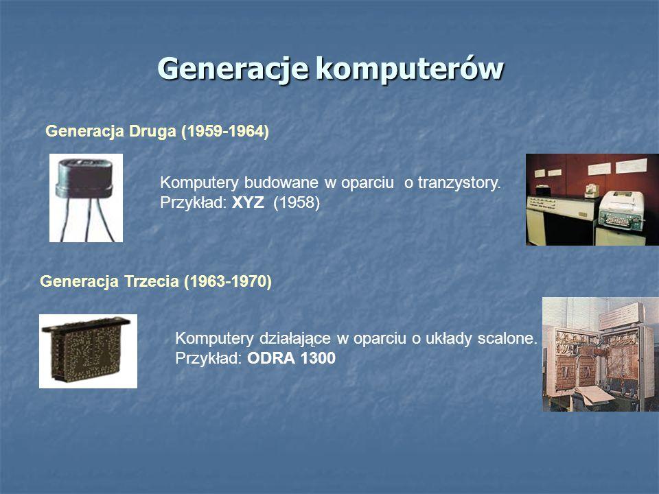 Generacje komputerów Generacja Druga (1959-1964)