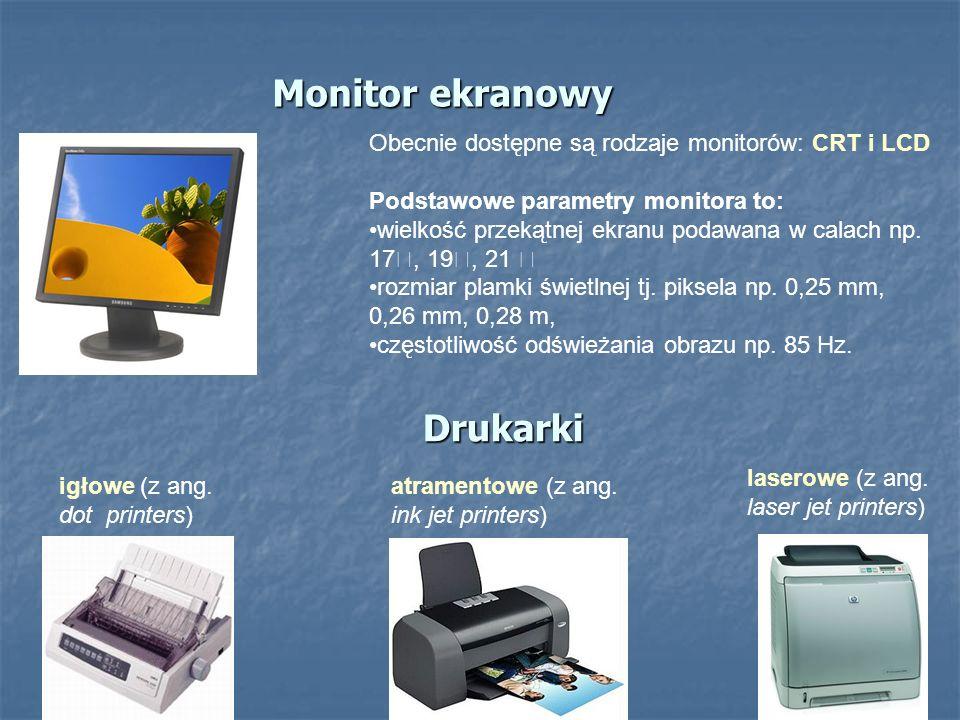 Monitor ekranowy Drukarki