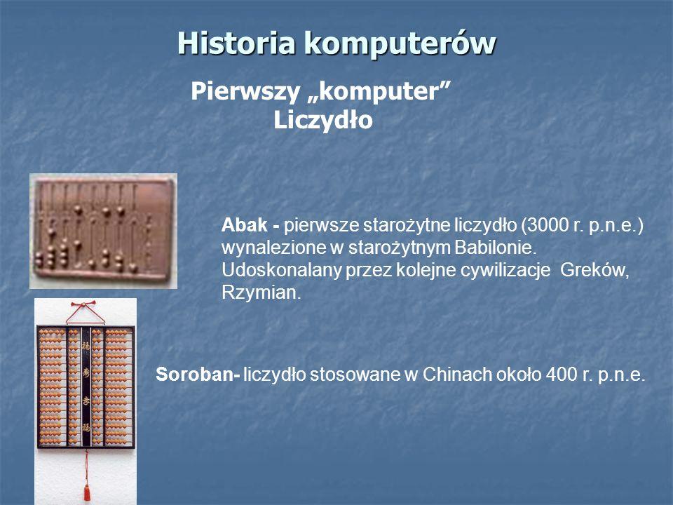 Soroban- liczydło stosowane w Chinach około 400 r. p.n.e.