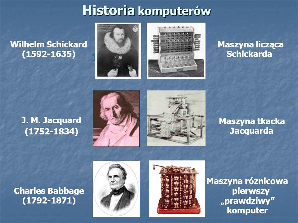 Historia komputerów 1821 Wilhelm Schickard (1592-1635)