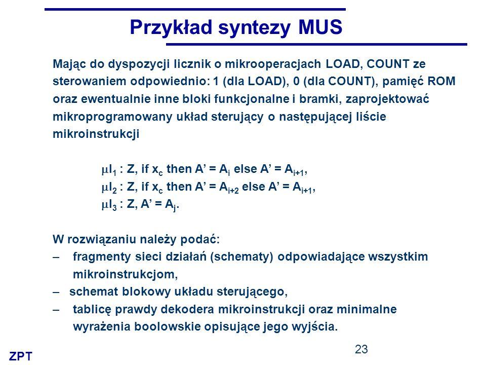 Przykład syntezy MUS