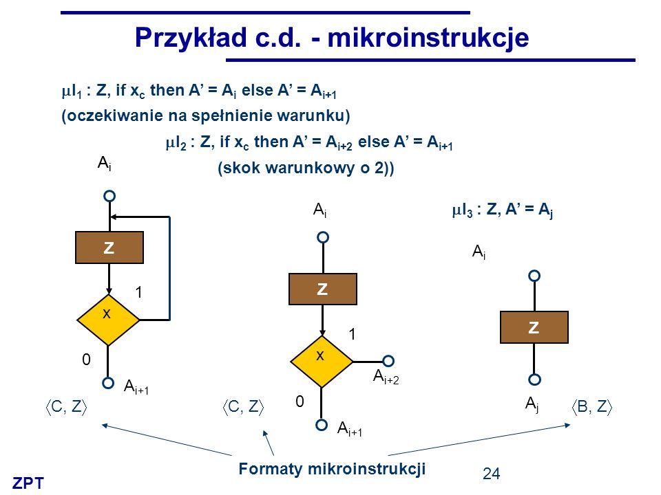 Przykład c.d. - mikroinstrukcje
