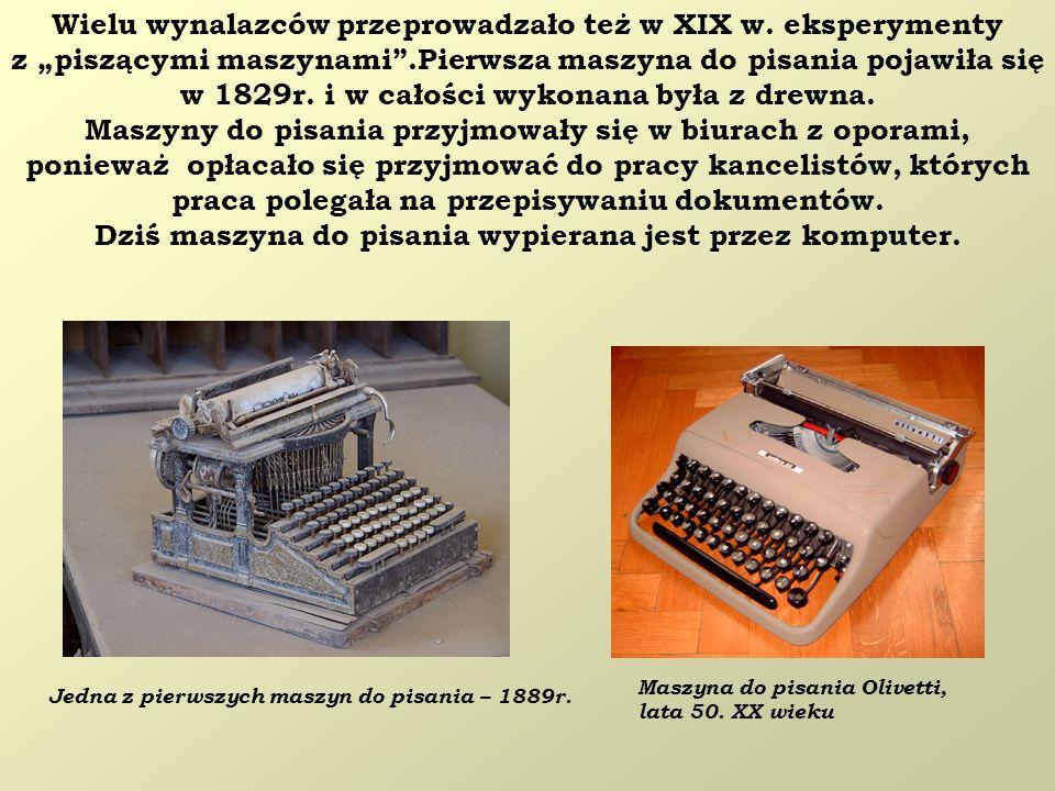 Wielu wynalazców przeprowadzało też w XIX w. eksperymenty