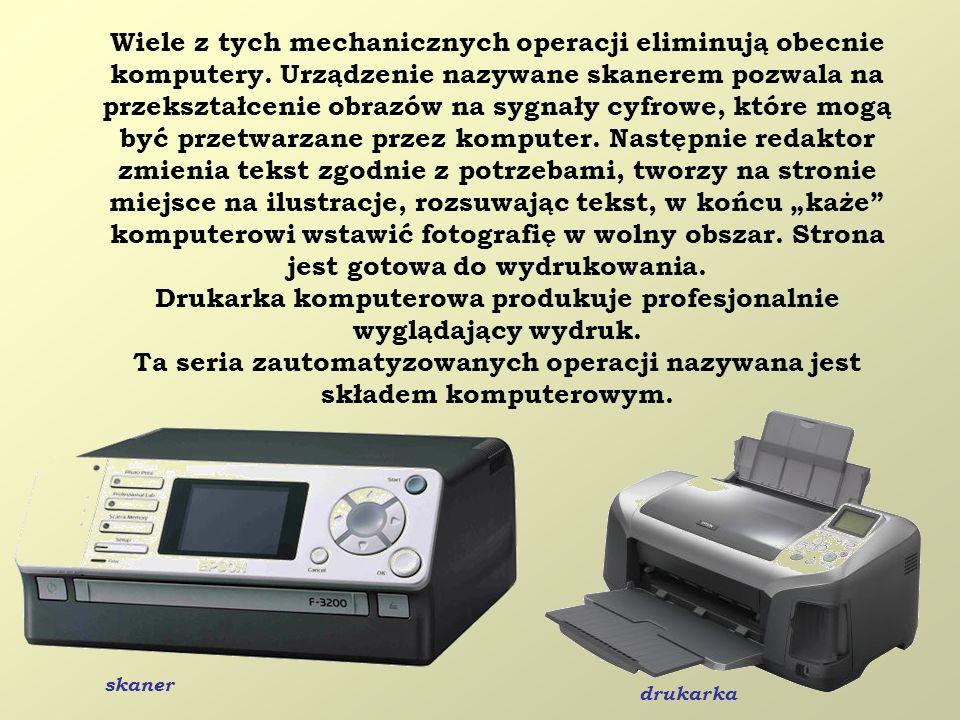 Drukarka komputerowa produkuje profesjonalnie wyglądający wydruk.