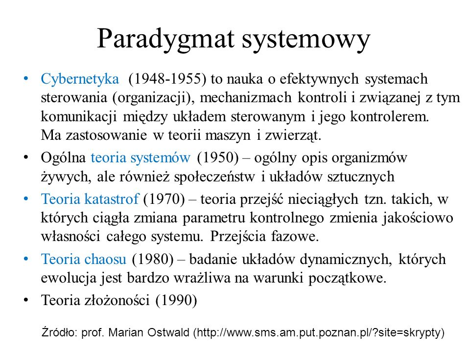Paradygmat systemowy