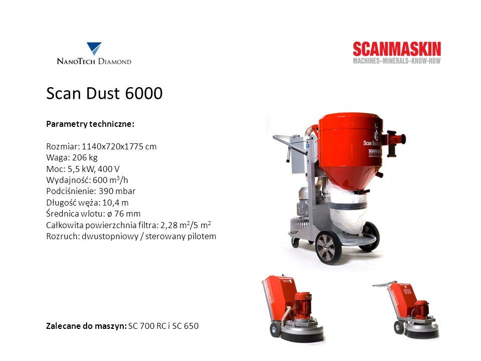 Scan Dust 6000 Parametry techniczne: