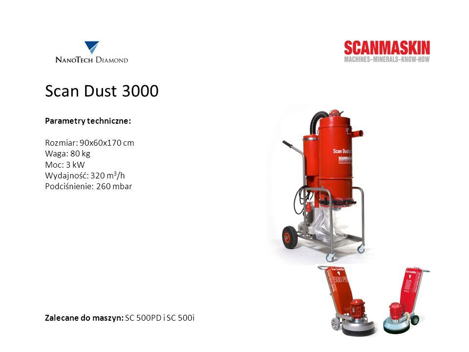 Scan Dust 3000 Parametry techniczne: