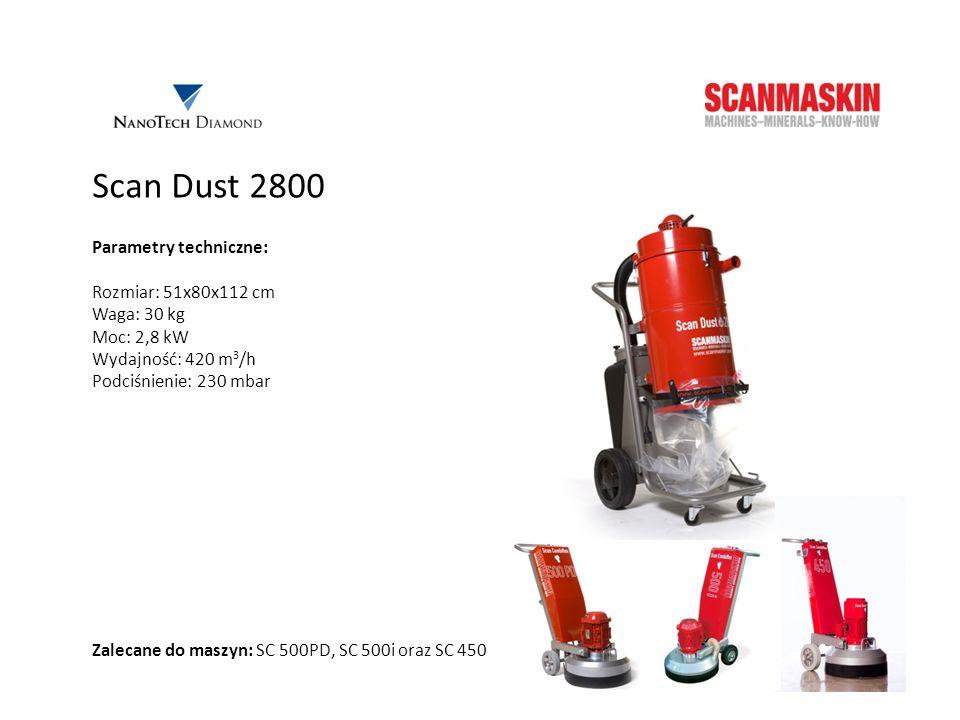 Scan Dust 2800 Parametry techniczne: