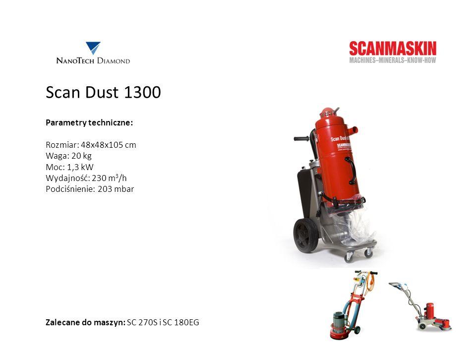 Scan Dust 1300 Parametry techniczne: