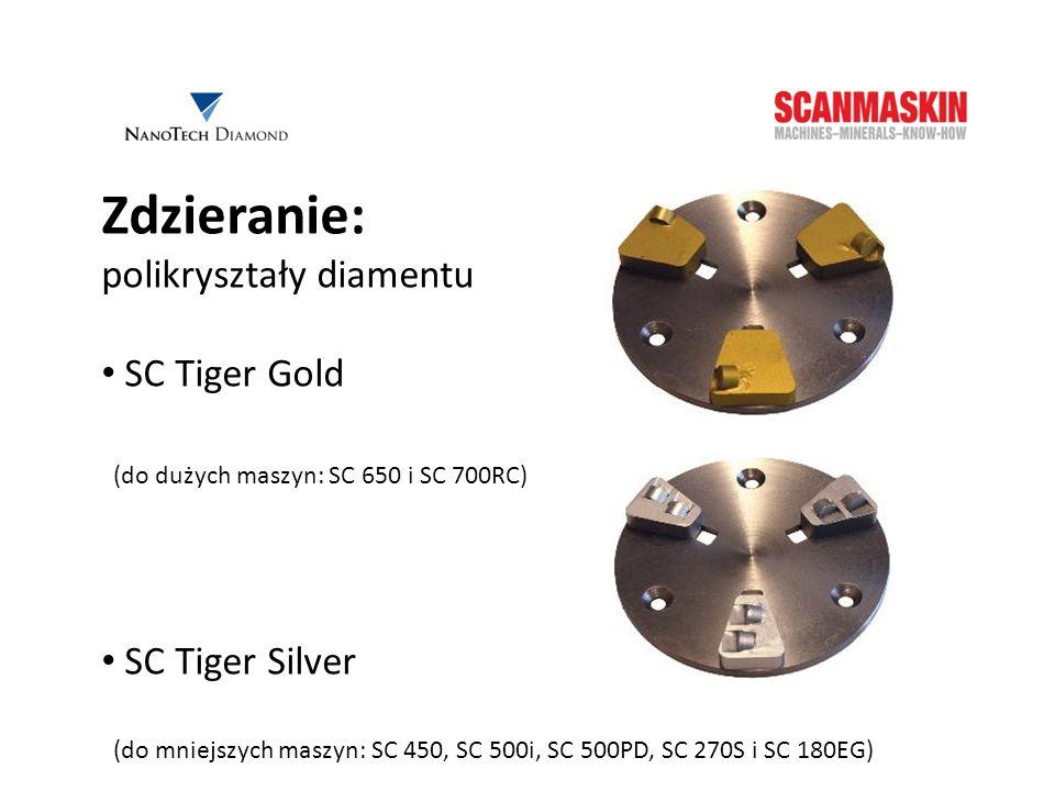 Zdzieranie: polikryształy diamentu SC Tiger Gold SC Tiger Silver