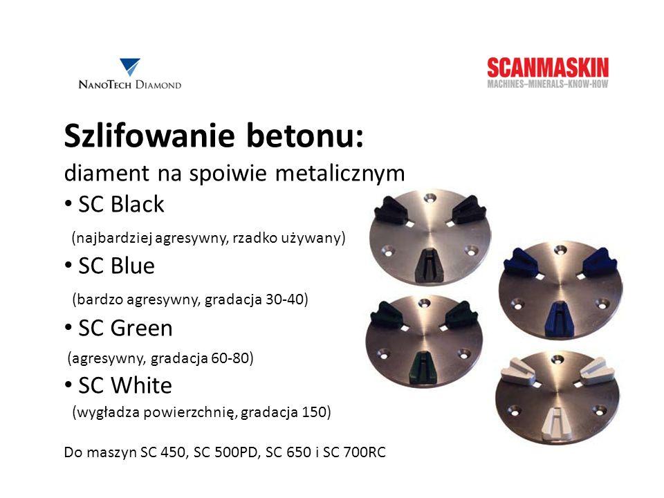 Szlifowanie betonu: diament na spoiwie metalicznym SC Black SC Blue