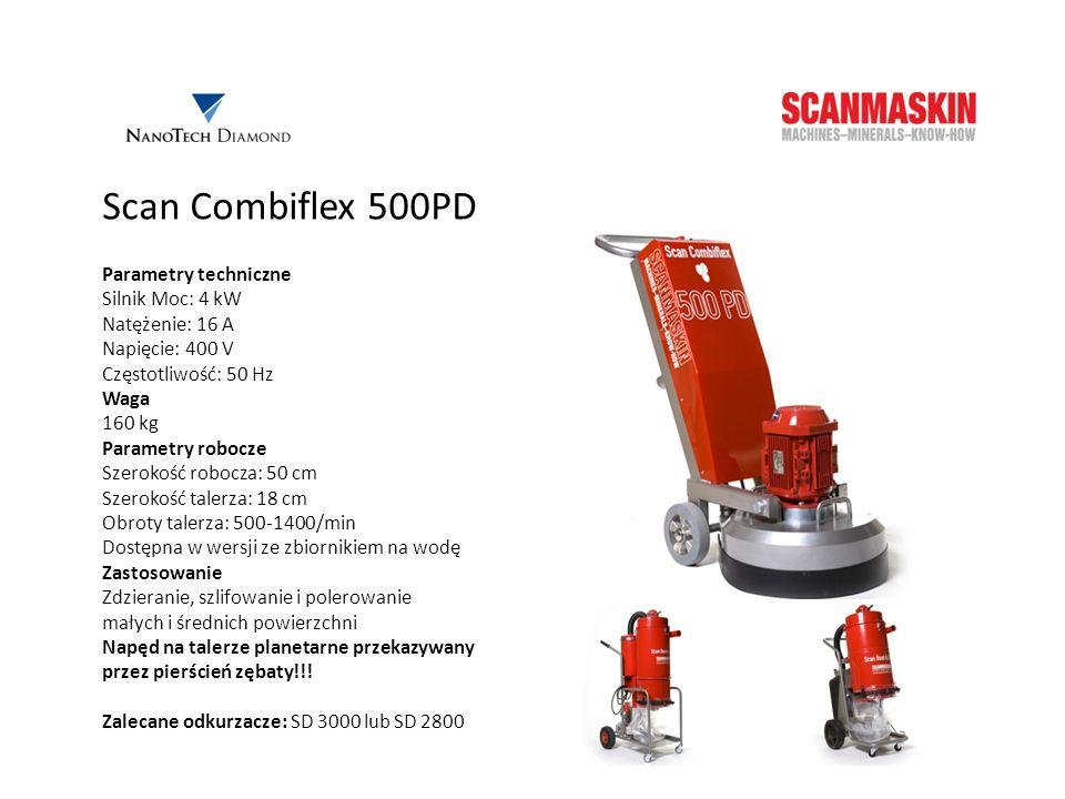 Scan Combiflex 500PD Parametry techniczne Silnik Moc: 4 kW