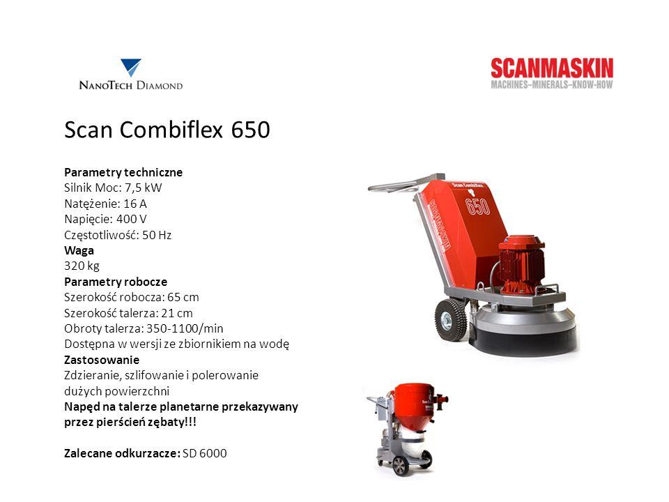 Scan Combiflex 650 Parametry techniczne Silnik Moc: 7,5 kW
