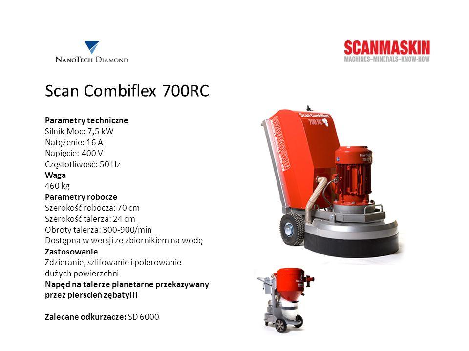 Scan Combiflex 700RC Parametry techniczne Silnik Moc: 7,5 kW