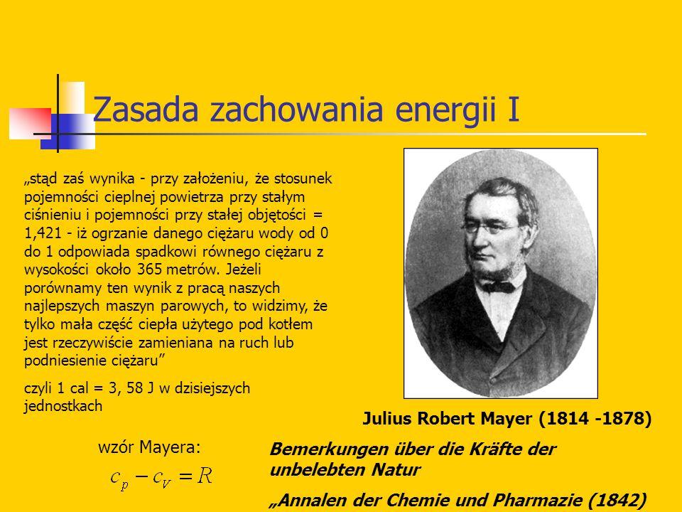 Zasada zachowania energii I