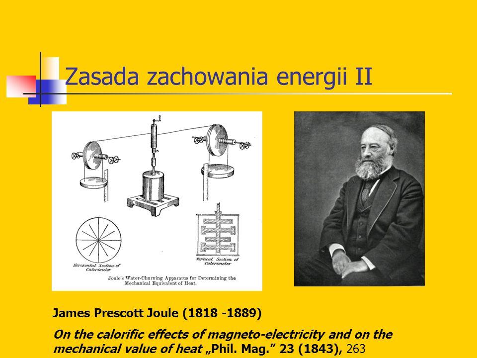 Zasada zachowania energii II