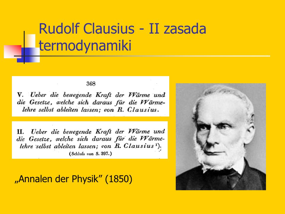 Rudolf Clausius - II zasada termodynamiki